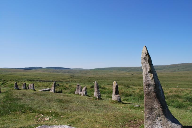 Scorhill stone circle, Dartmoor nasjonalpark. Foto: Vibeke Vesterhagen