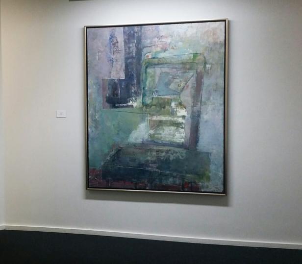 Svein Strand, Atelieret, 2011-2014. Olje på lerret, 162x130. P.E Foto: fra utstillingen. Siri Wolland