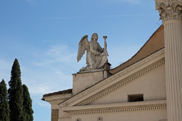 Barokkengelen på Chiesa Di San Rocco, Roma. Foto:Siri Wolland