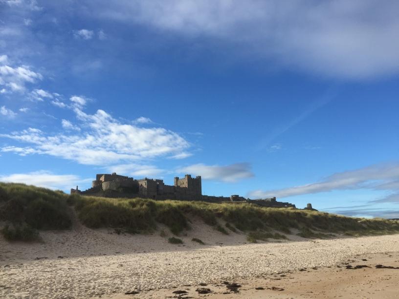 Bamburgh castle i Northumberland. Foto: Karen Thommesen