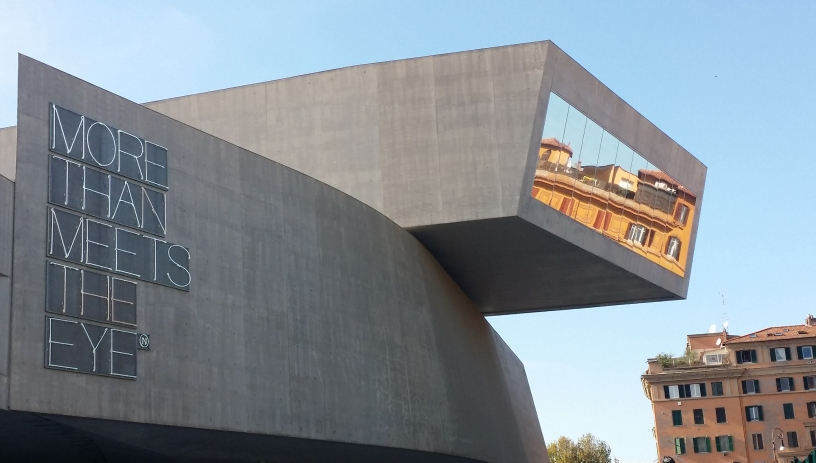 Maxxi Museum i Roma. Arkitekt Zaha Hadid. Foto: Siri Wolland