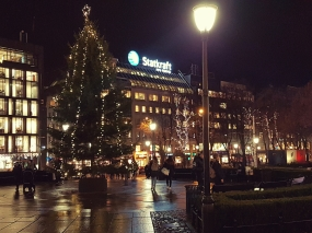 Eidsvolls plass og juletreet. Foto: Siri Wolland