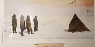 Roald Amundsen kom først til Sydpolen i 1911. Foto; fra museumsutstillingen.