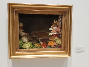 """Kristian Zahrtmann (1843-1917) """"Romersk fruktutsalg"""", 1883. Foto fra utstillingen: Siri Wolland"""
