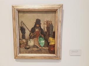 "Eilif Peterssen (1852-1928) ""Michele Archangelo"", 1882. Foto Fra utstillingen: Siri Wolland"