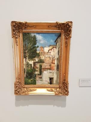 "Eilif Peterssen (1852-1928) ""Via Sistina 123"", 1881. Foto fra utstillingen: Siri Wolland"
