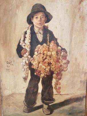 "Eilif Peterssen (1852-1928) ""Løkselgeren"", 1879. Foto fra utstillingen: Siri Wolland"