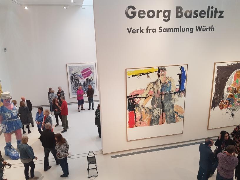 Maleri av Georg Baselitz Foto fra utstillingen: Siri Wolland