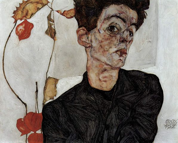 File:Egon Schiele - Self-Portrait with Physalis - Google Art Project.jpg. 596px-Egon_Schiele_079