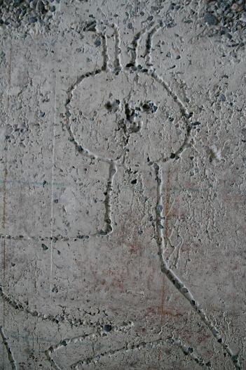 Picasso. Utsnitt av Faun. Høyblokka. Bildet er tatt før istandsettingen etter bomben 22. juli 2011. Foto: Siri Wolland