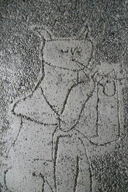 Picasso. Satyr. Høyblokka. Bildet er tatt før istandsettingen etter bomben 22. juli 2011. Foto: Siri Wolland