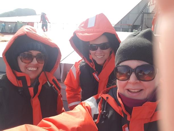 Ombord på båt i sørishavet-selfie. Foto: Siri Wolland