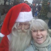 Julenissen og jeg-selfie. Foto: Siri Wolland
