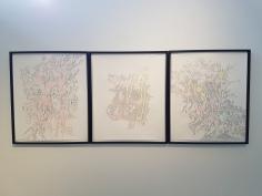 Karin Mohr, Tegninger, 2017. Foto fra utstillingen: Siri Wolland