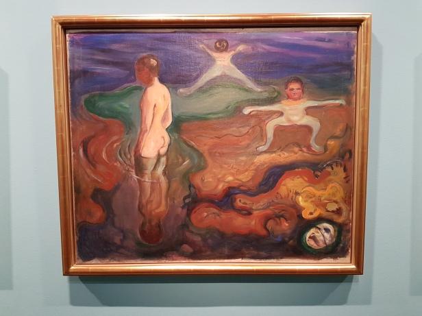 Edvard Munch, Badende gutter. 1897-98. Foto fra utstillingen: Siri Wolland