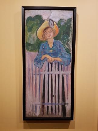 Edvard Munch, Ingse Vibe, 1903. Foto fra utstillingen: Siri Wolland