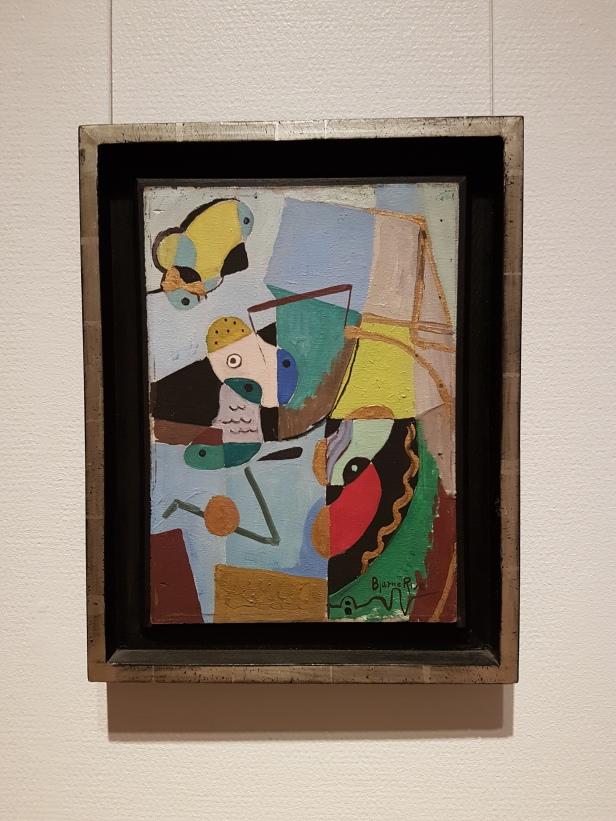 """Bjarne Rise, """"Komposisjon / Composition"""", 1934-35. Foto fra utstillingen: Siri Wolland."""