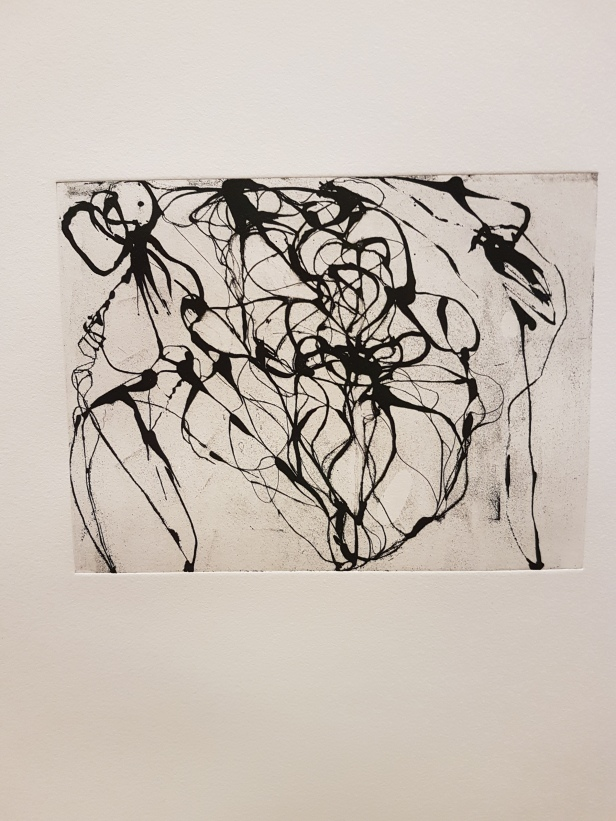 "Brice Marden, ""After Botticelli"", 1993. Foto fra utstillingen: Siri Wolland."