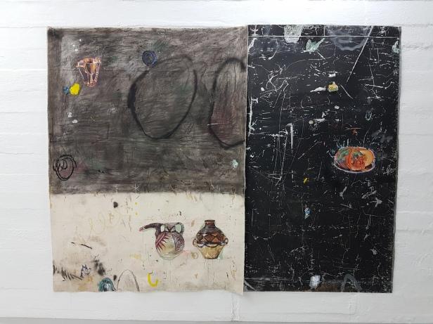 Paulo Nimer Pjota, Between arrangements, constellations and time, geometric motifs and ritual (2015) (Brazil). Foto fra utstillingen: Siri Wolland