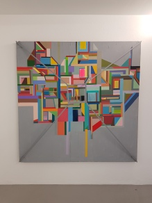 Chris Johanson, Geometric with platform (2006) (USA). Foto fra utstillingen: Siri Wolland.