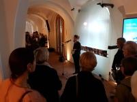 """Fra utstillingsåpningen av Bjørn Winsnes """"Utsnitt"""" i Nasjonalmuseet - Arktitektur. Foto: Siri Wolland"""