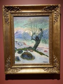 Marsmorgen, 1920. Nikolai Astrup. Foto fra utstillingen: Siri Wolland.