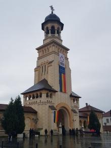 Kirkeportalen i Alba Iulia, Transilvania, Romania. Foto: Siri Wolland