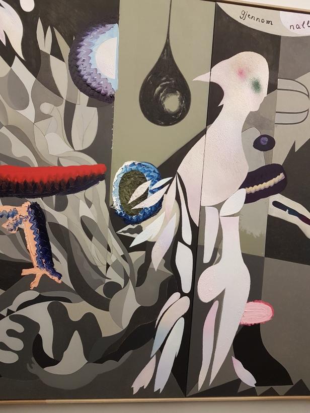 Gjennom natten, 2017. B. Melgaard og S. Bjertnes. (Et utsnitt) Foto fra utstillingen: Siri Wolland