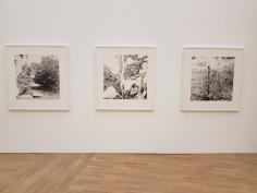 Dag Alveng, Kasse, 1987, Hull etter blomst, 1980 og Gjerdestolpe, 1987. Foto fra utstillingen: Siri Wolland