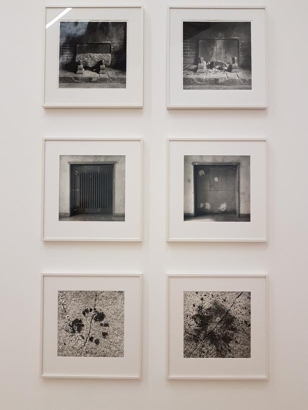 Dag Alveng, Kubbe, Bourgogne, 1980, Brent, Bourgogne, 1980, Radiator, Düsseldorf, 1982, Uten radiator, Düsseldorf, 1982, Kull, 1981, Kull, knust 1981. Foto fra utstillingen: Siri Wolland
