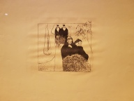 Paul Gauguin, Volpini Suite, Gamle frøkner fra Arles, 1889. Zinkografi. Foto fra utstillingen: Siri Wolland.