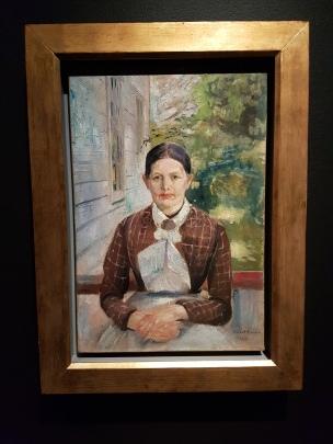 Edvard Munch, Karen Bjølstad 1888. Olje på lerret. Foto fra utstillingen: Siri Wolland