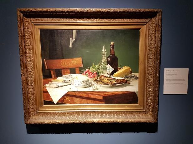 Oluf August Hermansen (Dansk maler,1849-1897), A Breakfast Table, 1884. Foto fra utstillingen: Siri Wolland.
