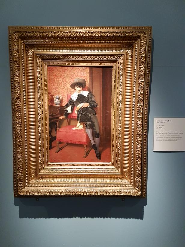 Christian Meyer Ross (1843-1904), Kavaleren. Foto fra utstillingen: Siri Wolland.