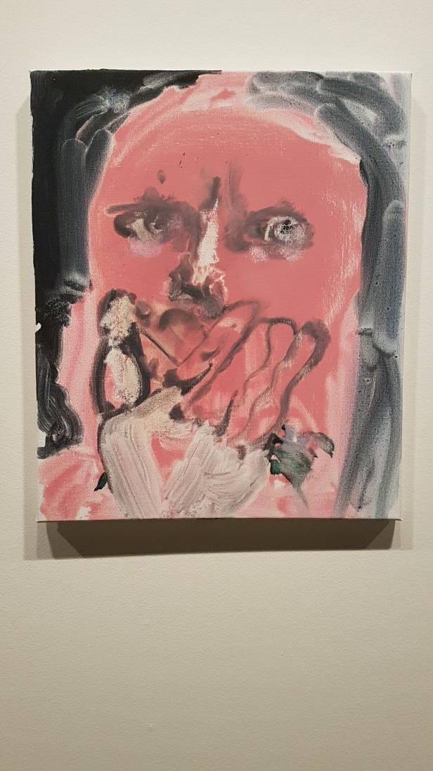 Marlene Dumas, Omegas øyne, 2018. Foto fra utstillingen: Siri Wolland.