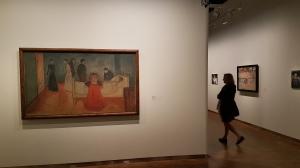 Fra utstillingen Moonrise. Marlene Dumas og Edvard Munch. Foto fra utstillingen: Siri Wolland.