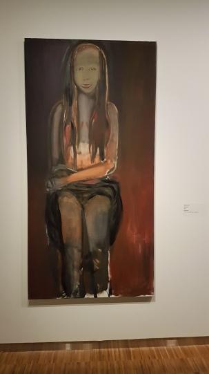 Marlene Dumas, Magdalena, 1995. Foto fra utstillingen: Siri Wolland.