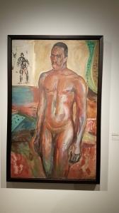 Edvard Munch, Stående naken afrikaner, 1916. Foto fra utstillingen: Siri Wolland.