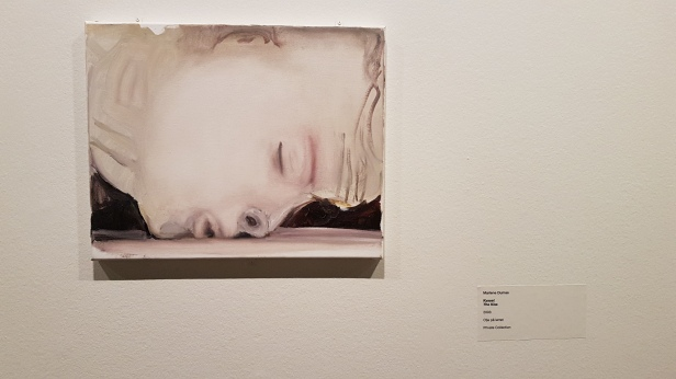 Marlene Dumas, Kysset, 2013. Foto fra utstillingen: Siri Wolland.