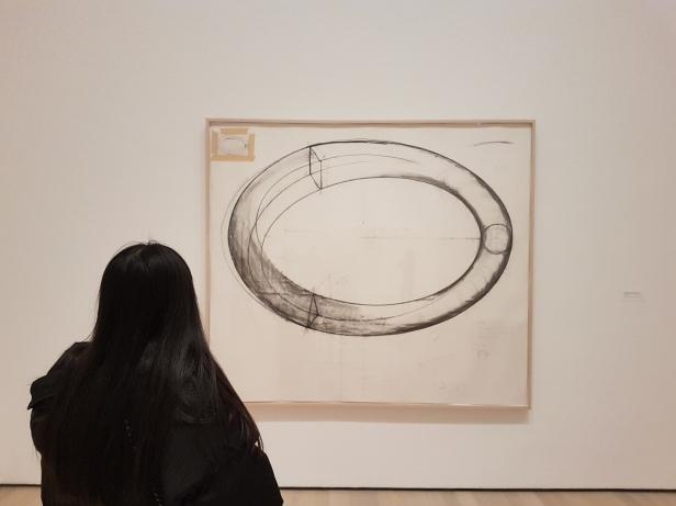 """Bruce Nauman, """"Untitled (Study for Sculpture)"""", 1983, fra utstillingen Disappearing Acts, MOMA, New York, 2018. Foto fra utstillingen: Siri Wolland."""