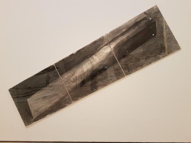 "Bruce Nauman, ""Triangle Circle Square"" 1981, fra utstillingen Disappearing Acts, MOMA, New York, 2018. Foto fra utstillingen: Siri Wolland"