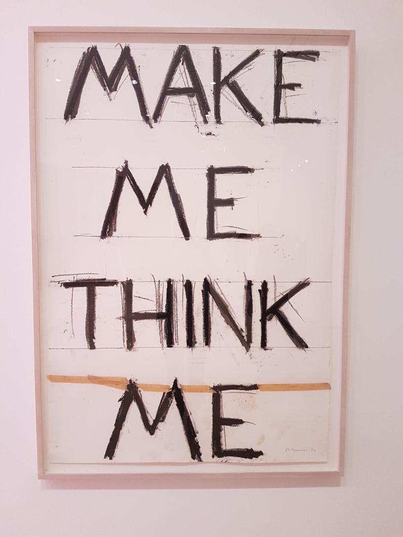 Bruce Nauman, fra utstillingen Disappearing Acts, MOMA, New York, 2018. Foto fra utstillingen: Siri Wolland.