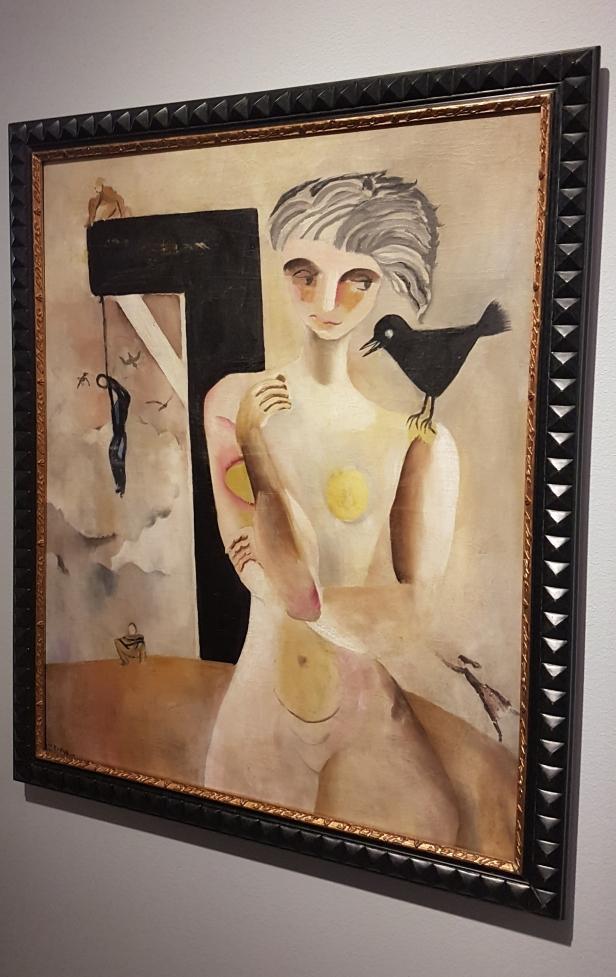 Per Krohg (1889-1965), Den Hengtes Ballade, 1917. Foto fra utstillingen: Siri Wolland.