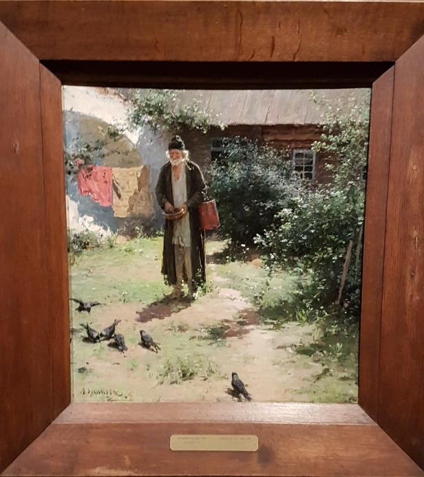 Aleksander Arkhipov, Munk, 1891. Foto fra utstillingen; Siri Wolland.