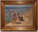 Johannes Wilhjelm, To piger på Skagen strand.1910. Foto fra utstillingen: Siri Wolland.