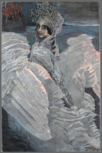 Mikhail Vrubel, Svaneprinsessen, 1900. Foto fra utstillingen; Munchmuseet.