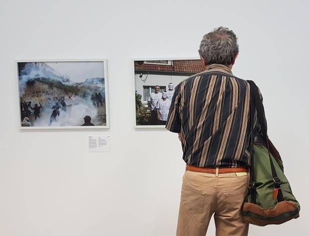 Fra utstillingen; Walls of Power, man-made barriers throughout Europe. Foto fra utstillingen, Siri Wolland.