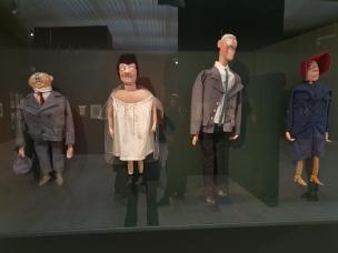 """George Grosz, Der """"Konservative"""" Herr, Klytemnestra, Woodrow Apollon, Elektra von der Heilsarmee. 1919. Foto fra utstillingen Siri Wolland."""