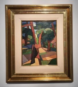 Emilio Pettoruti (1892-1971), Angle of a Garden, 1917. Foto fra utstillingen Siri Wolland.