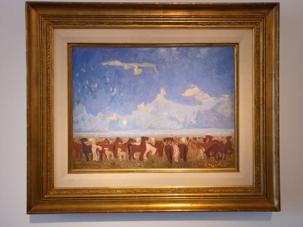 Pedro Figari (1861-1938) Foals of the pampas, 1930. Foto fra utstillingen Siri Wolland.